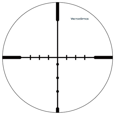 Vector Optics Hugo 4-16x44 Varmint Shooting 1 Inch Riflescope Min 10 Yds BDC Ranging Wire Reticle Turret Lock Side Focus