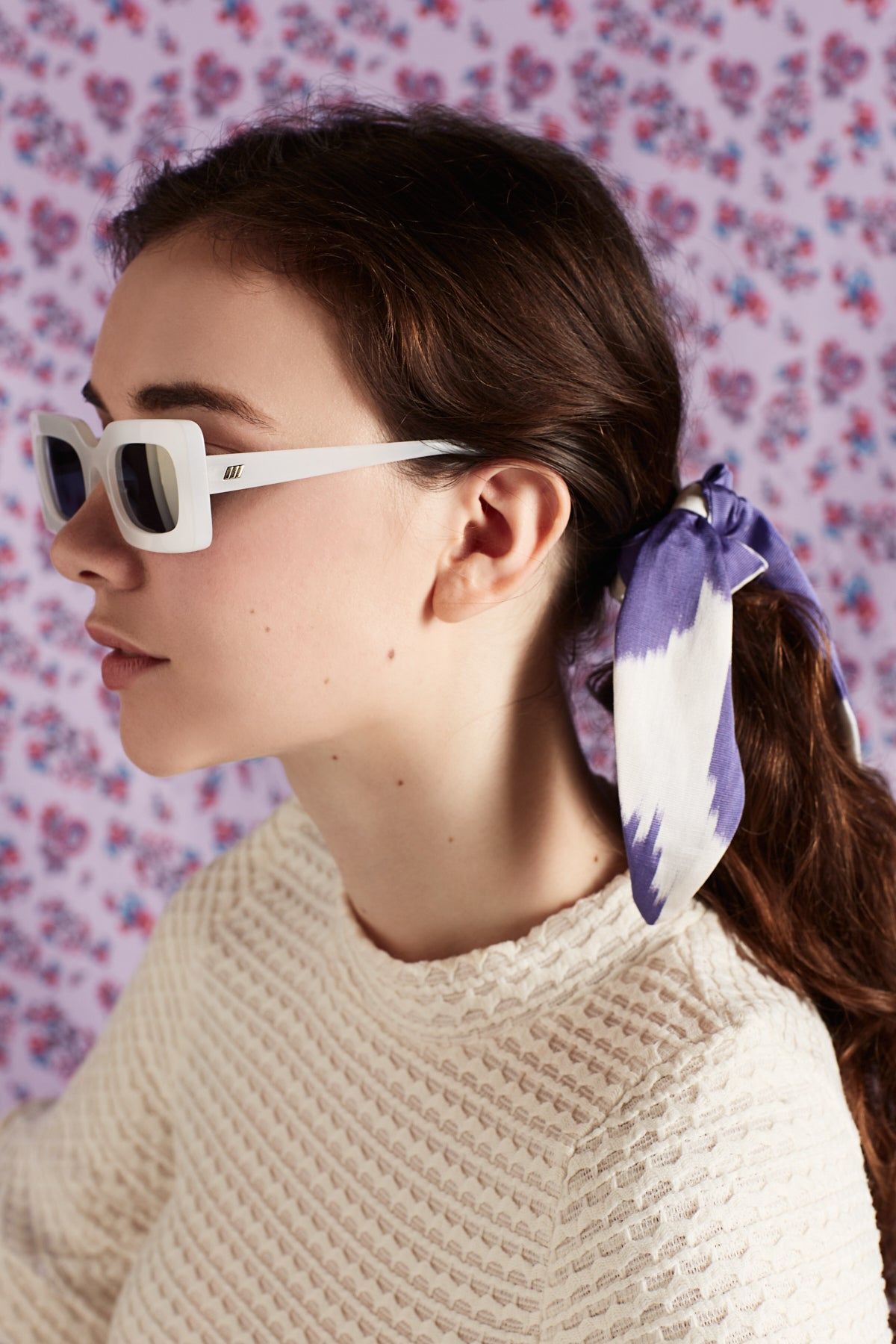 lavender emily tie scrunchie - maas by slightly east