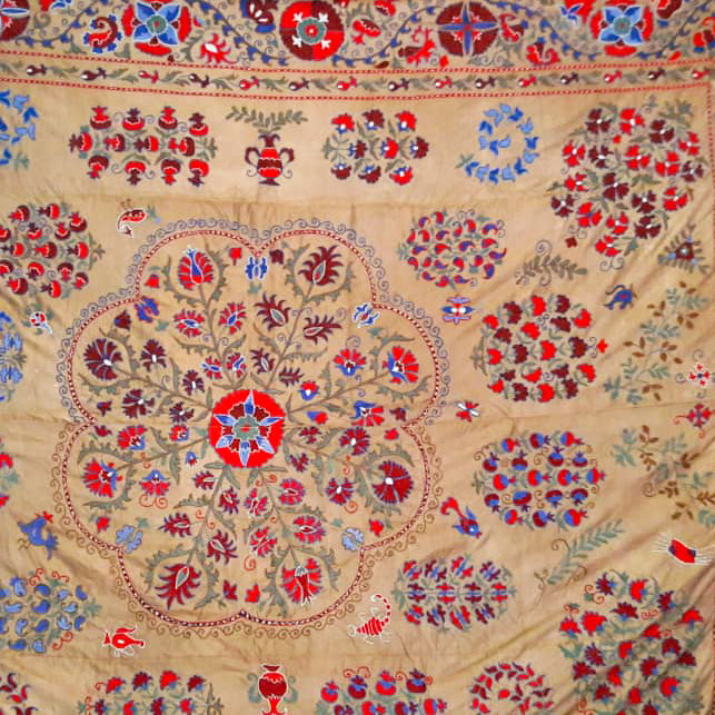 silk on silk suzani