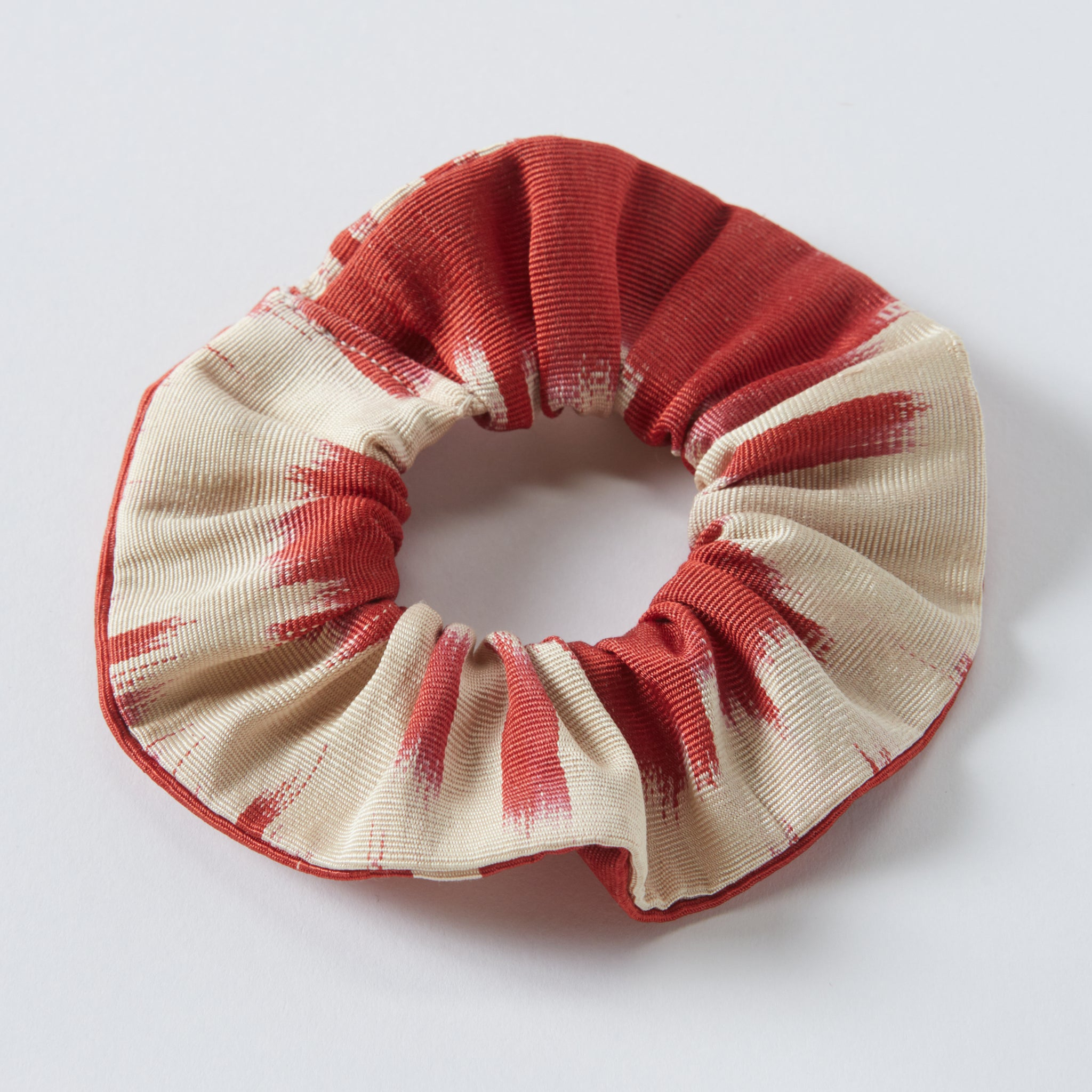 red orange anna scrunchie - maas by slightly east