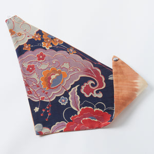 peach/paisley clark reversible scarf - maas by slightly east