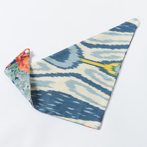 ahoy/blue clark reversible scarf - maas by slightly east