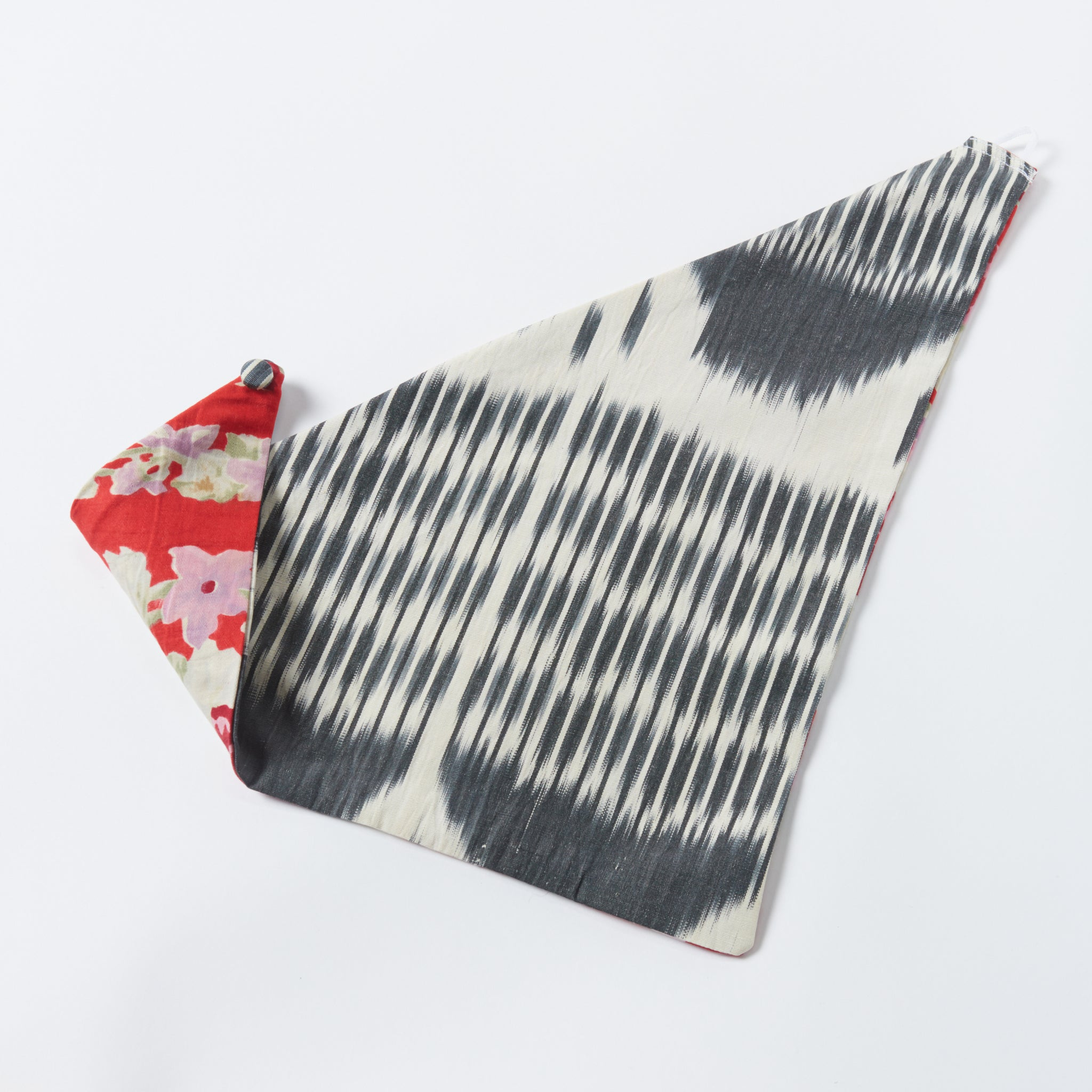 red/black clark reversible scarf - maas by slightly east