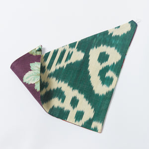 forest/eggplant clark reversible scarf - maas by slightly east