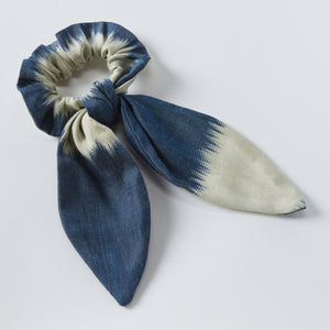navy emily tie scrunchie - maas by slightly east