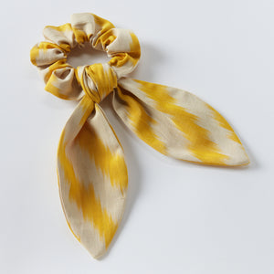 yellow emily tie scrunchie - maas by slightly east