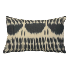 vefa black ikat pillow