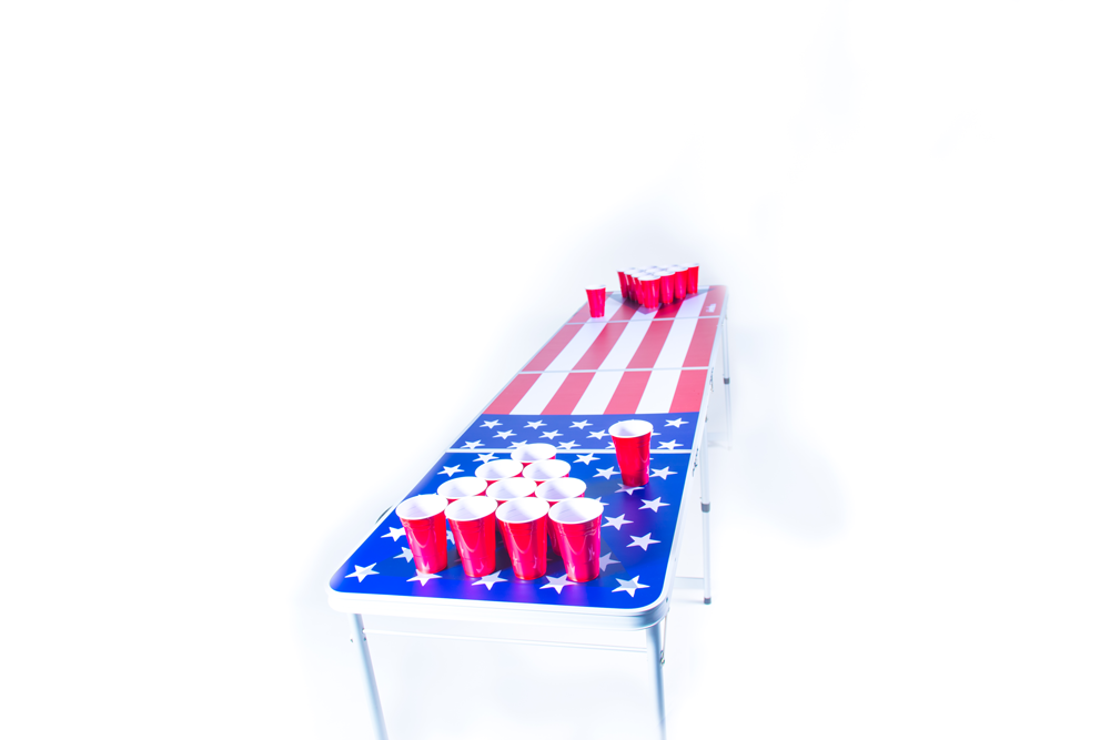 American Flag Beerpong-Bord