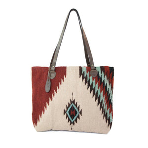MZ - Turquoise + Ruby Tote