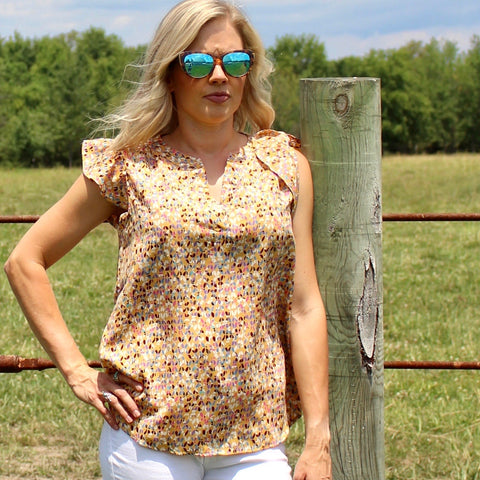 Wildflower Blouse in Butter