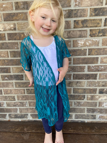 Tucson Teal Lace Duster