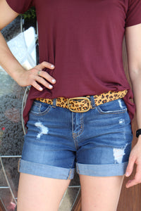 Gold Leopard Belt