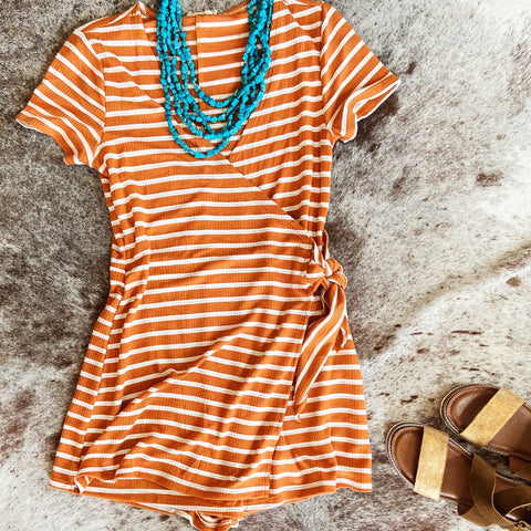 Blake Romper in Rust