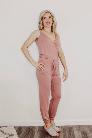 Riley Jumpsuit in Mauve