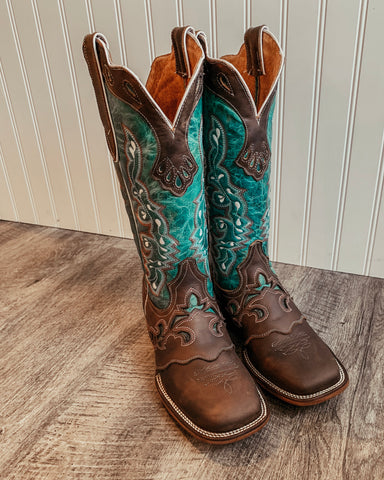 Nevada Handmade Turquoise Boots