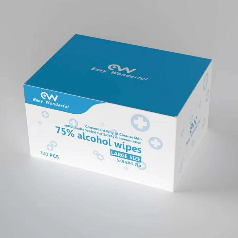 Disposable 100 PCS/BOX 75% Alcohol Wipes