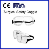 2 packs Medical Grade Safety Goggles with Clear Anti-Fog Lens