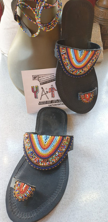 BRAND NEW:  Made in Africa Slippers