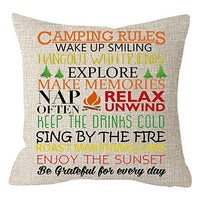 NIDITW Nice Sister Daughters Birthday Gift Life is Better When You're Camping Campfire Cream Burlap Throw Pillow Case Pillowcase Cushion Cover Pillow Sham Sofa Couch Decorative Rectangle 12x20 Inches