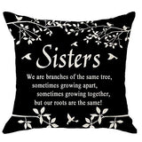 NIDITW Set of 4 Sister Daughter Granddaughter Gift with Inspirational Quotes Lumbar Cream Burlap Throw Pillow Case Pillowcase Cushion Cover Pillow Sham Sofa Couch Decorative Rectangle 12x20 Inches