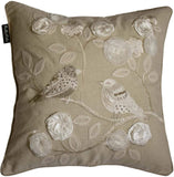 "Bella Vida Cotton Decorative Pillow Cover, Beaded Embroidered, 20""x20"", 2-Piece"