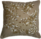 "Bella Vida Cotton Decorative Pillow Cover, Beaded Embroidered, 18""x18"", 2-Piece"