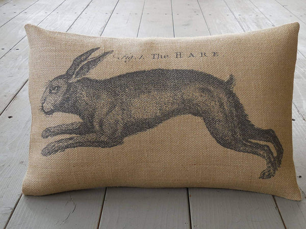 ances Lincol The Hare Burlap Pillowcase Vintage Rabbit Pillowcase Shabby Chic French Rabbit Farmhouse Pillowcases