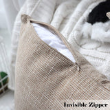 Kevin Textile Decor Burlap Natural Style Lined Linen Throw Pillow Cases Cushion Cover for Bed/Sofa, 26x26 inch(2 Pieces, Natural Linen)