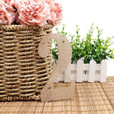 Burlap Personalize Party Flag Letter A-Z No.0-9 DIY Jute Burlap Bunting Banner Flags Candy Bar Wedding Decor Baby Shower Favor