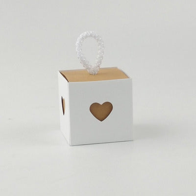 50pcs Wedding Kraft Paper Gift Candy Box Heart Burlap Bag DIY Kid Gifts For Guests Wedding Favors Birthday Baby Party Decoration