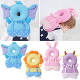 Large Baby Head Protection Pad Soft Crystal Velvet Filled with PP Cotton Breathable Toddler Anti-fall Headrest Pillow