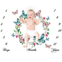 Newborn Baby Girls Boy Blanket Milestone Photography Photo Props Shoots Cloth US