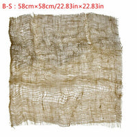 Newborn Handcraft Jute Backdrop Blanket Baby Photography Prop Chunky Burlap Layer Net Studio Props-S006
