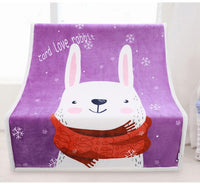 Baby Duvet 135*95cm Baby Blankets Newborn Cartoon Soft Comfortable Blanket Coral Fleece Infant Baby Bedding