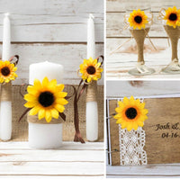 Sunflower burlap ribbon rustic Wedding birthday bridal Baby Shower Cake Christmas tree bottle table centerpiece Decoration favor