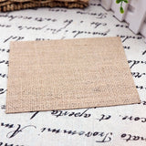 10pcs Rustic Natural Burlap Table Mat Round Square Coasters Placemat Table Decoration For Birthday Wedding Festival Party Supply
