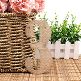 Table Numbers Burlap Banner (0-9) Vintage Pennant Hessian Burlap Number Tags For Wedding Baby Shower Party Decorations DIY Card