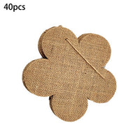 40Pcs Burlap Banner DIY Party Decoration for Wedding, Birthday, and Baby Shower
