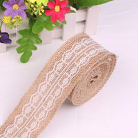 1pc Rustic Wedding Decoration Natural Jute Burlap Ribbon Rustic Vintage Bride To Be Baby Souvenirs Party Decoration DIY Supplies
