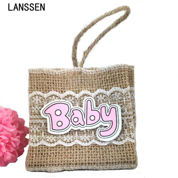 12Pcs Fillable Pouches Bag Baby Wedding Hessian Burlap Linen Jute Bagsl For Party Decorations