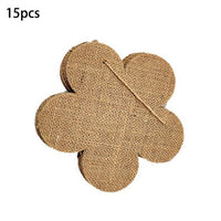 15Pcs Burlap Banner DIY Party Decoration for Wedding, Birthday, and Baby Shower E65B
