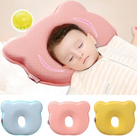 0~12M Memory Foam Baby Pillows Breathable Baby Shaping Pillows to Prevent Flat Head Ergonomic Newborns Pillow almofada infantil