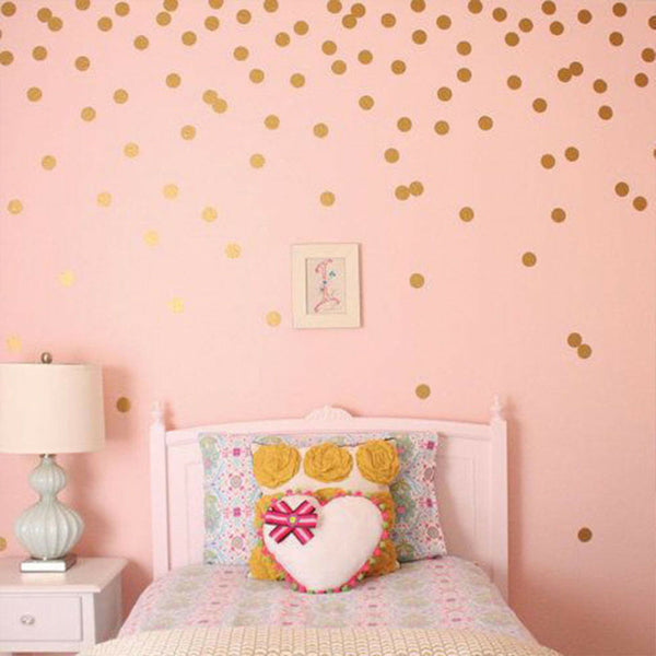 Nursery Decoration Baby Rome Decor DIY Wall Stickers 52/PCS Decals Polka Dots
