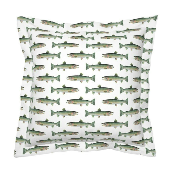 Cutthroat Trout Green Beach Decor Alaska Fish Freshwater Pillow Sham by Roostery