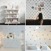 Baby Boy Room Kids Little Triangles Wall Sticker For Home Nursery Decor Decal