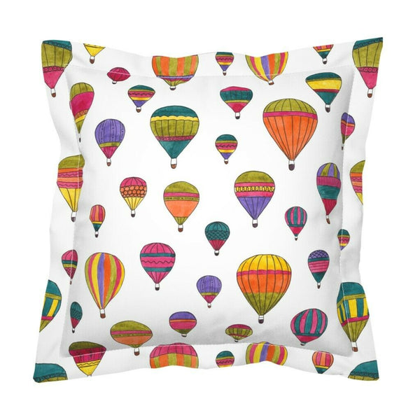 Watercolor Colorful Balloons Summer Nursery Decor Pillow Sham by Roostery