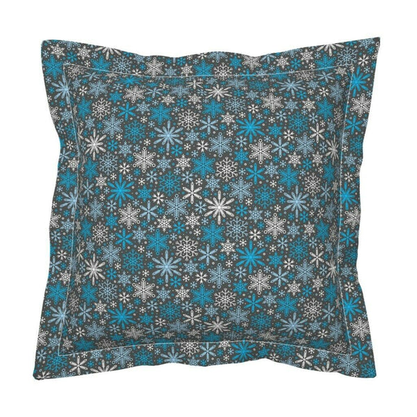 Snowflake Winter Decor Christmas Holiday Weather Retro Pillow Sham by Roostery