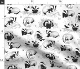Badger Black And White Woodland Nursery Decor Badgers Pillow Sham by Roostery