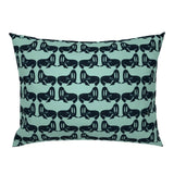 Walruses On Mint Watercolor Walrus Nursery Decor Modern Pillow Sham by Roostery