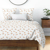 Fox Winter Orange White Animal Nursery Decor Woodland Pillow Sham by Roostery